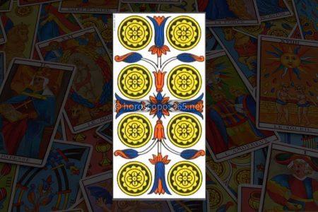 Significado de los ocho diamantes a la carta del tarot
