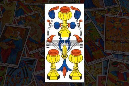 Significado del Tres de Corazones al Tarot